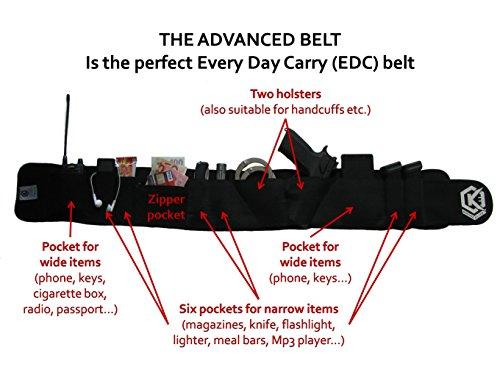 KOSTKA Elite Speziell entwickeltes EDC-Bauchband-Holster für noch schnelleres Ziehen der Pistolen – extrem bequem – Holster passt von großen bis zu subkompakten Waffen.