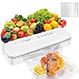Vacuum Sealer Machine, 2021 Newest Mother's Day Automatic Sealing Machine for Food Preservation, Dry Moist Food Modes | Compact Design | Easy to Clean | Led Indicator Lights