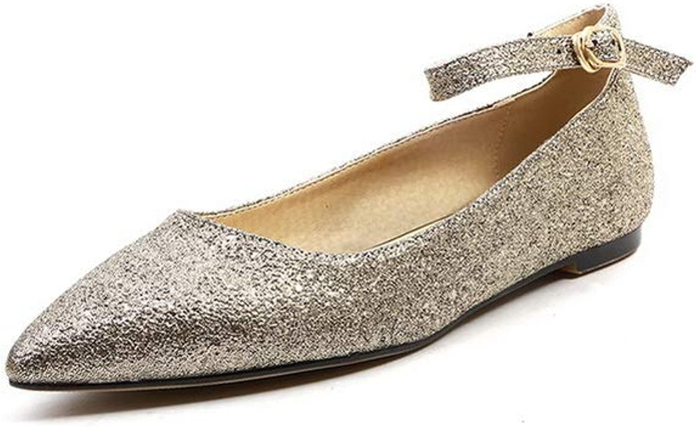 AdeeSu Womens Glitter Solid Huarache Urethane Pumps shoes SDC05904