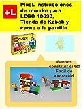 PlusL instrucciones de remake para LEGO 10693,Tienda de Kebab y carne a la parrilla: Usted puede construir Tienda de Kebab y carne a la parrilla de sus propios ladrillos