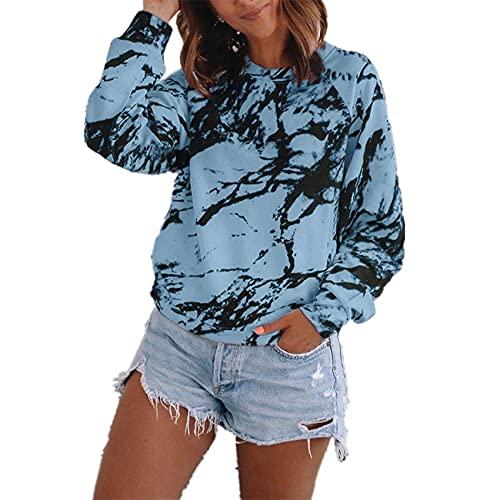 Langärmlige T-Shirt-Frauen mit Loser Bluse und Damendruck