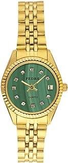 Fifth Avenue Faux Malachite Dial Gold-Tone Bracelet Women's Watch