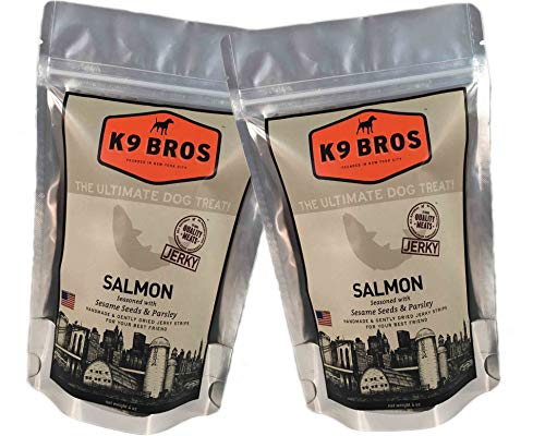 K9 Bros Salmon Treats - Seasoned with Sesame Seeds and Parsley (2 Pack)