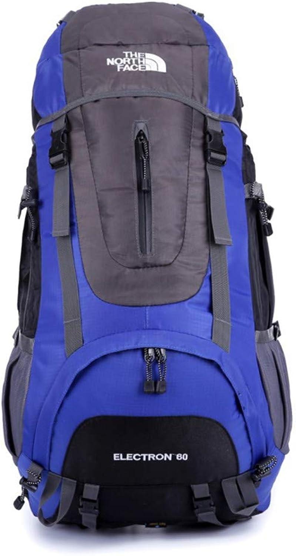 LCPG Ruckscke wasserdicht und tragbar Nylon lssig Mnner und Frauen Outdoor Camping Rucksack Reisen Multifunktions gelten für einen Sportfan (Farbe   Blau)