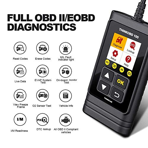 Cheapest Prices! THINKOBD100 OBDII OBD2/ EOBD Vehicles Diagnostics Code Reader Scanner Tool/auto car...
