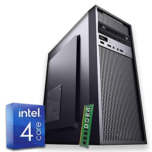 Pc Desktop Computer Intel Quad Core DDR4 Ram 8 Gb Hd da 1TB Dvd/Hdmi completo Wi Fi Fisso Completo Assemblato Atx 500w Con Sistema Operativo Windows professional