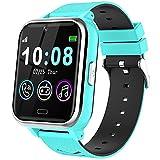 Smartwatch per bambini, orologio intelligente per bambini con SOS e chiamata a due vie, schermo touch HD, con giochi e musica per bambini, con orologio e calcolatrice (blu)