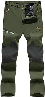 Sponsored Ad - KEFITEVD Men's Hiking Pants Water Resistant Outdoor Snow Pants Fleece Lined Ski Pants with Zipper Pocket
