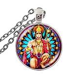 Hindú dios hindú Señor Hanuman collar de cristal cabujón Hanuman imágenes colgante collar mujeres hombres budismo envío gota