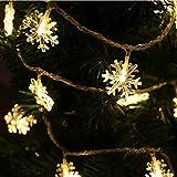 Albero di Natale fiocco di neve LED stringa luci fiabesche Festa di Natale famiglia matrimonio ghirlanda luci stringa Batteria 10m100 led