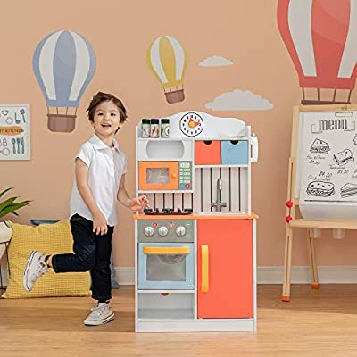 best wooden play kitchen set for preschoolers, pic of toy kitchen