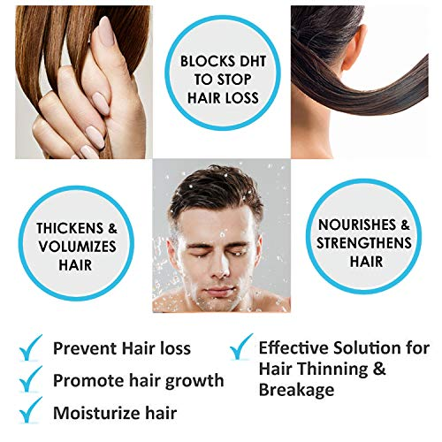 Hairgenics Pronexa Clinical Strength Hair Growth & Regrowth Therapy Hair Loss Shampoo With Biotin, Collagen, and DHT Blockers for Thinning Hair, 8 fl. oz.