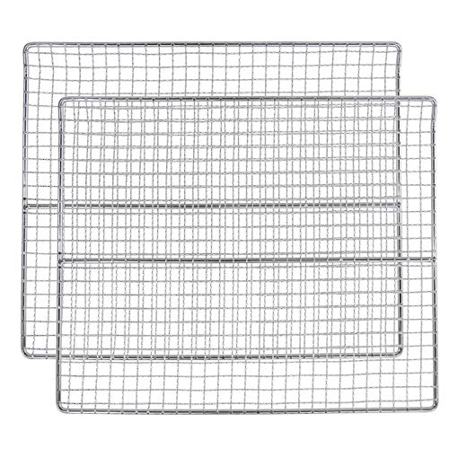 Hisencn Cooking Grates Jerky Rack Replacement Parts for Pit Boss 2 Series and 3 Series Propane Gas Smoker and Electric Smoker, 14.75' x 11.9' Jerky Cooking Rack, 2 Pack