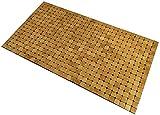 Kos Design Alfombra de bambú para baño, inodoro, dormitorio, cocina, interior y exterior, 80 x 45 cm