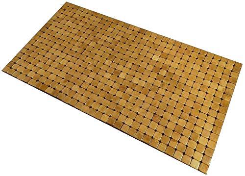 Kos Design Tapis de sol en bambou pour salle de bain, toilettes, chambre à coucher, cuisine, paillasson intérieur ou extérieur 80 x 45 cm