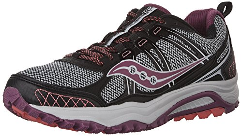 Saucony Women's Grid Excursion tr10-w Hiking Shoe, Black/Berry/Coral, 5 M US