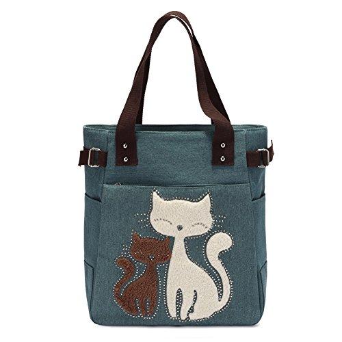 KAUKKO Vintage Reisetasche Handtaschen Schultertasche Shopper Taschen Umhängetasche Damen Handbag