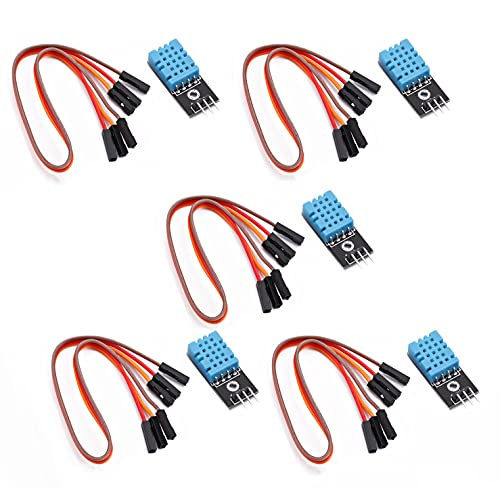 Songhe DHT11 Temperature and Humidity Sensor Module for Arduino Raspberry Pi 2 3 5pcs