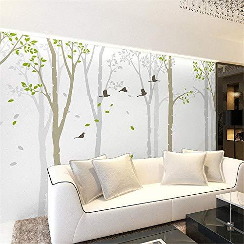 Fototapete Wandbild Hintergrund 3d TapetenBenutzerdefinierte Tapete 3d TV Hintergrund Wandbilder Tapete Schlafzimmer moderne minimalistische Wohnzimmer abstrakte Baum 3d Tapete-Über 250 * 175 cm