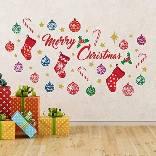 Wallflexi Christmas Decorations Wall Stickers ' Merry...