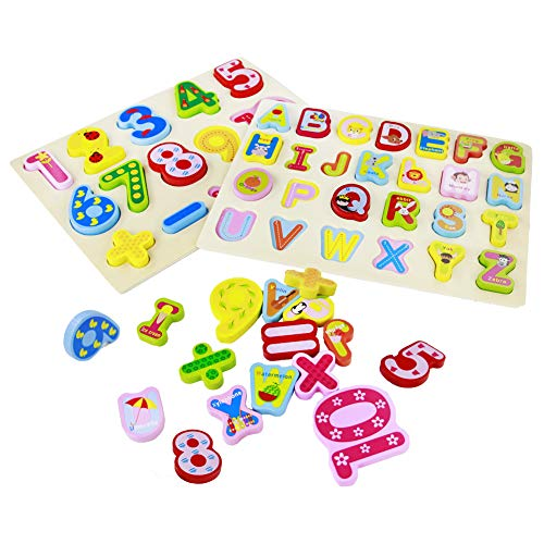 Juguetes de Madera Puzzles Infantiles 3 4 5 Anos, 2 In 1 Puz