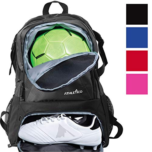Athletico National Soccer Bag - Backpack for Soccer, Basketball & Football Includes Separate Cleat...