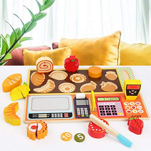 WUJINJ Jigsaw Puzzle Children's Early Education Game Toys Cognitieve fruit Keukengerei Ice Cream Set Game Toys (Color : Fruit shop)