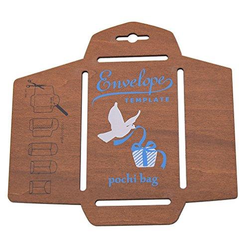 Lychee Holz Schablone Template für Briefumschläge Bastelarbeit Handwerk Vintage