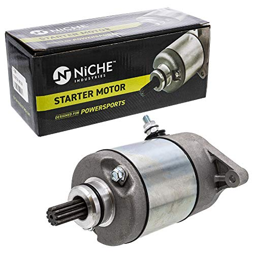 NICHE Starter Motor Assembly 31100-38F00 High Torque for 2002 Arctic Cat 375 2003-2008 Arctic Cat 400 Suzuki Eiger 400 KingQuad 400