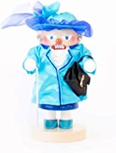 Pinnacle Peak Trading Company Steinbach Queen of England in Blue Outfit German Wood Christmas Nutcracker