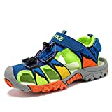 Kids Sandals Boys Outdoor Hiking Sports Sandal Girls Pool Beach Shoes Summer Water Shoe Sneakers for Toddler Size 8.5 Blue Green
