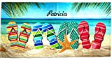Kaufman - Personalized Beach Towels for Kids, 100% Absorbent...