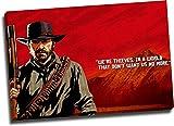 Red Dead Redemption 2 Lienzo decorativo para pared de 71 x 50 cm, enmarcado para videojuegos, póster artístico de Arthur Morgan para baño, estirado y listo para colgar
