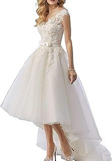 946a971a564c H.S.D Wedding Dresses High Low Bridal Dresses Lace Wedding Gown Organza Bridal  Gown
