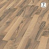 Pavimento in Laminato Kronotex a Incastro, Scatola da 2,390 m²/AC3, Spessore 7mm. Noce Ticino