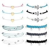 Milacolato Bracelets de cheville pour femme