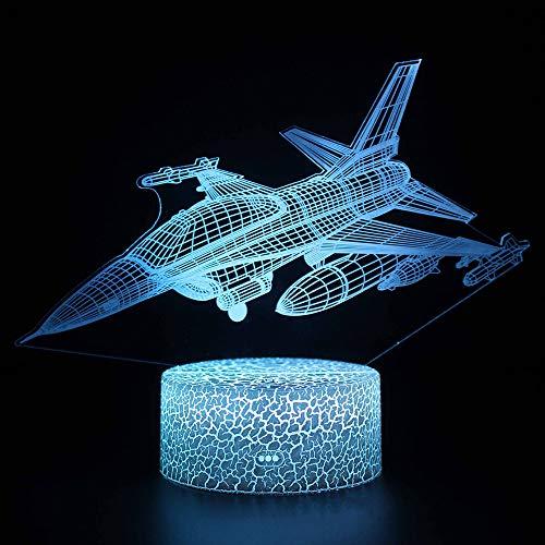 SZ&LAM Illusion 3D Veilleuse, 7 Changement De Couleur LED Tactile USB Table Cadeau Enfants Jouets Décorations Décorations Noël Saint Valentin Cadeau Cadeau d'anniversaire
