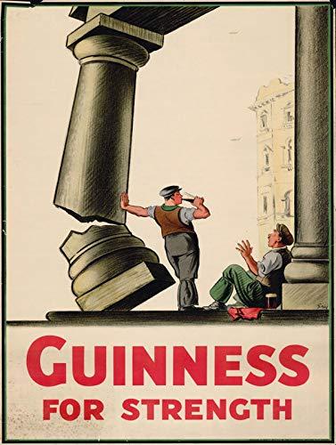 Guinness for Strength Blechschild Retro Warnschild Vintage Metall Poster Plakette Eisen Malerei Kunst Dekor für Home Cafe Garden Pub Büro 30x20 cm