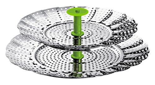 KUHN RIKON Rejilla Flexible para cocinar al Vapor, Metal, Gris, Centimeters