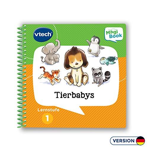 VTech 80-480004 Lernstufe 1 - Tierbabys MagiBook Lernbücher, Mehrfarbig