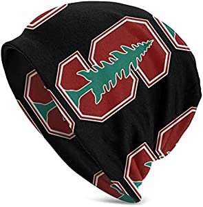 Logo de l'université de Stanford unisexe mode casquette de couverture extensible casquette décontractée bonnet en tricot bonnet chapeaux nouveauté cadeau casquette noire chapeau de couverture