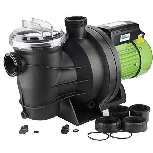 TRUTZHOLM® Schwimmbadpumpe Poolpumpe Filterpumpe Pumpe 550W / 800 W (800W / 15m³l/h)