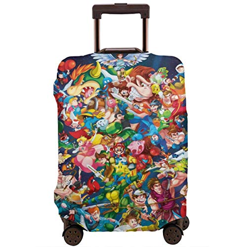 Super Smash Mario Zelda Kirby Funda de Equipaje de Viaje