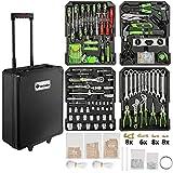 TecTake Maletín con herramientas de aluminio con 899pc piezas maleta trolley caja | Mango telescópico | Ruedas de fácil desplazamiento