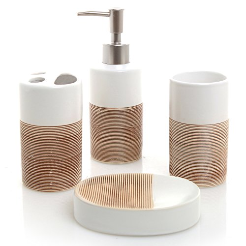 Best bathroom sets accessories white for 2020