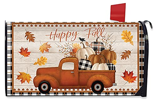 Briarwood Lane Happy Fall Pickup Truck Magnetic Mailbox Cover Standard