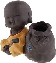 Blesiya Small Buddha Statue Tea Pet Purple Sand Pottery Car Monk Figurine Decoration Ornaments Crafts - Style 03