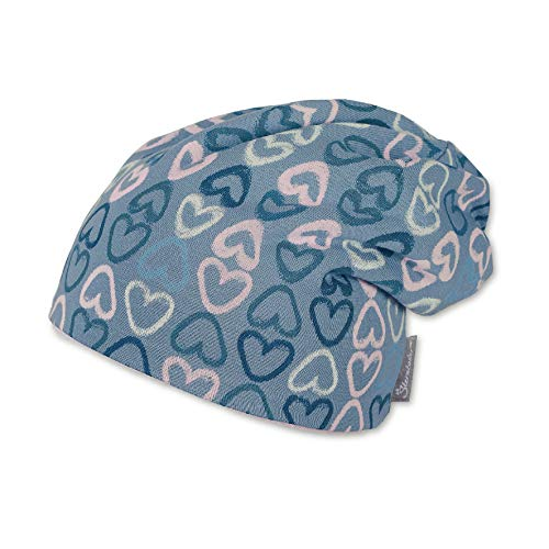 Sterntaler Baby-Mädchen Slouch-Beanie Mütze, Blau (Mittelblau 365), 41