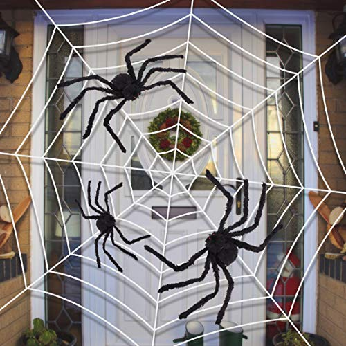 Y-Stop Halloween Giant Spider Plush Scary Spider Toys for Kids Halloween Party Decorations or Haunted House Decor