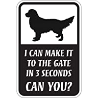 CAN YOU?マグネットサイン:ゴールデンレトリバー(レギュラー) I CAN MAKE IT TO THE GATE IN 3 SECONDS, CA.